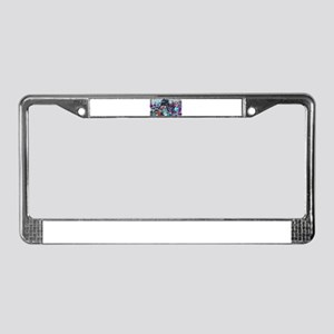 Red Cab Monster License Plate Frame