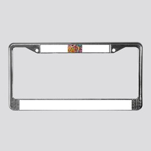 Fun and Funky Pop Art Sugar Sk License Plate Frame
