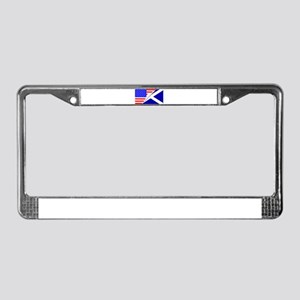United States and Scotland Fla License Plate Frame