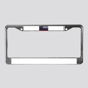 Thin Blue Line - USA Flag Red, License Plate Frame