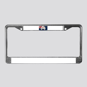 Made in Wentworth Falls, Austr License Plate Frame