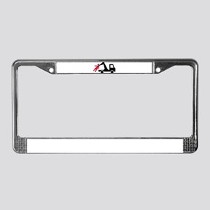 Wrecking truck girl License Plate Frame