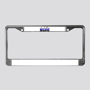 Back the Blue Thin Blue Line P License Plate Frame