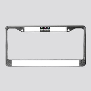 Pink, Blue & Green Martini License Plate Frame