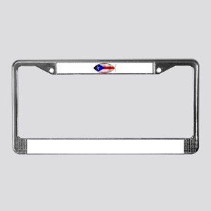 Ichthus - Puerto Rican Flag License Plate Frame