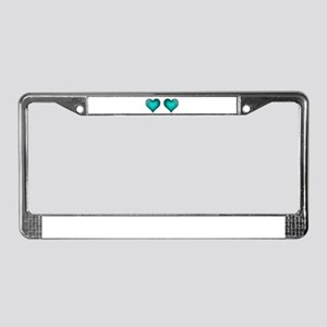Emerald Hearts License Plate Frame