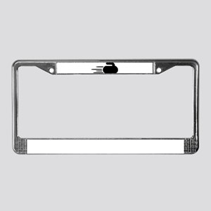 Curling stone License Plate Frame
