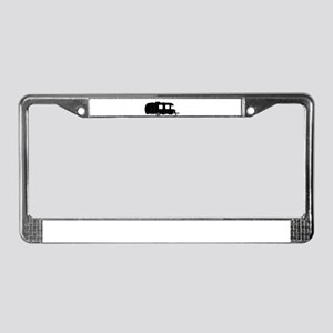 Large Luxury Caravan Silhouett License Plate Frame