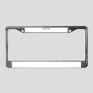 Surprise License Plate Frame