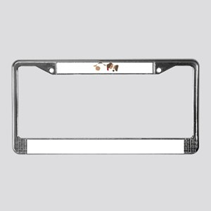 Beagle Love Beagle Laying Down License Plate Frame