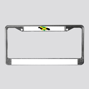 Jamaica Flag map License Plate Frame