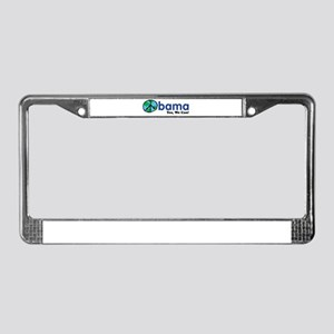 Obama Yes We Can License Plate Frame
