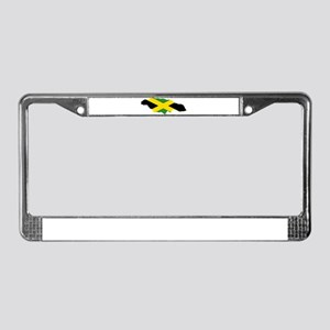 Jamaica Flag and Map License Plate Frame