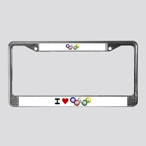I LUV BINGO License Plate Frame