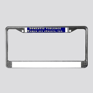 DomesticViolence4a License Plate Frame