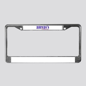 Airman's Princess With Crown License Plate Frame