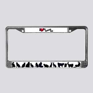 'I Love My Rescue!' License Plate Frame