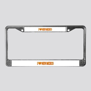 I Love New Mexico License Plate Frame