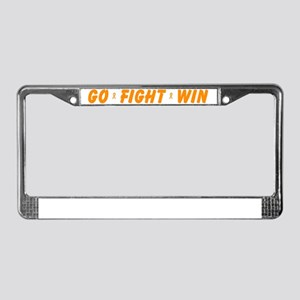 Orange Go Fight Win License Plate Frame