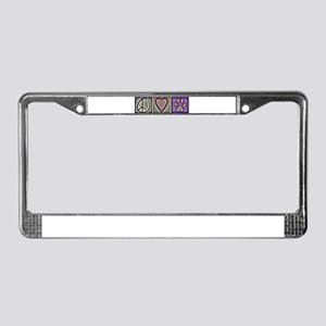 Peace Love Dogs (ALT) - License Plate Frame