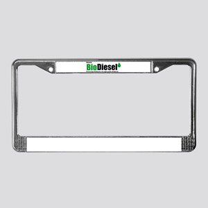 Powered By Biodiesel License Plate Frame