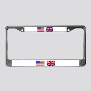USA & Union Jack License Plate Frame