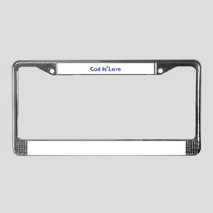 God Is Love License Plate Frame