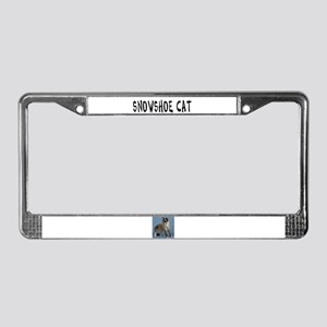 Snowshoe Cat License Plate Frame