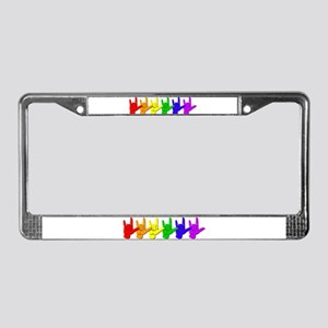 I love you - colorful License Plate Frame