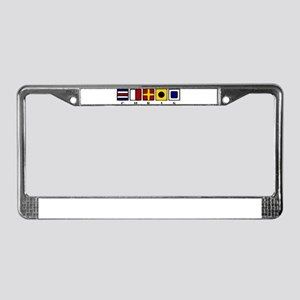 Nautical Chris License Plate Frame