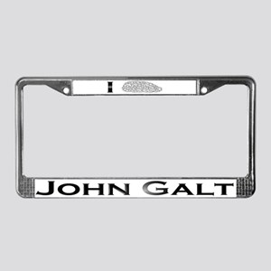 I Know John Galt License Plate Frame