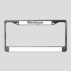Michigan Stars and Stripes License Plate Frame