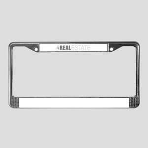 #realestate License Plate Frame