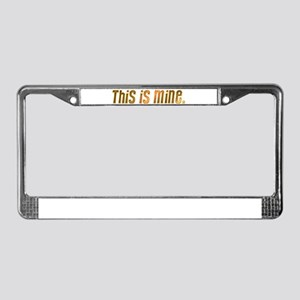 This is mine. License Plate Frame