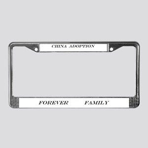 China adoption forever family License Plate Frame