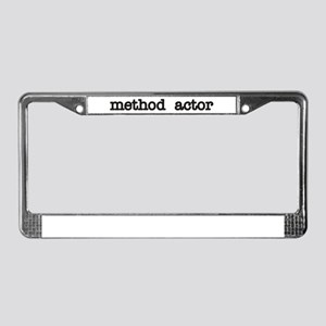 Method Actor License Plate Frame