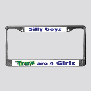 Trux License Plate Frame