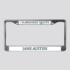 Jane Austen Randomly Quote #2 License Plate Frame