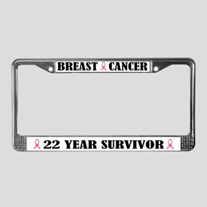 Breast Cancer 22 Year Survivor License Frame