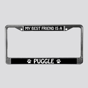 My Best Friend Is A Puggle License Plate Frame