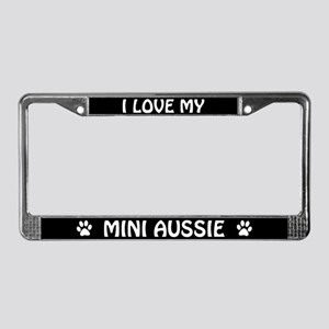 I Love My Mini Aussie License Plate Frame