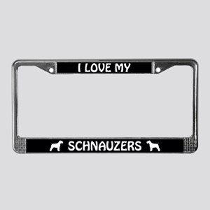 I Love My Schnauzers (Floppy Ears) License Frame