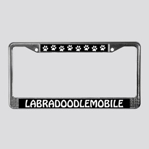Labradoodlemobile License Plate Frame