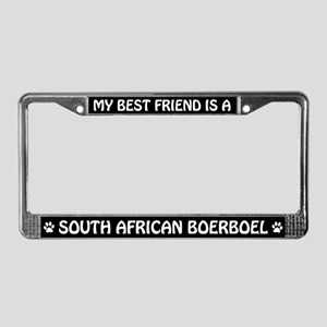 South African Boerboel (friend) License Frame