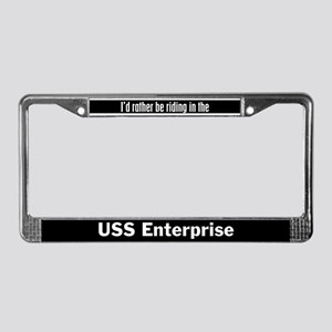 I'd Rather be Riding in the U License Plate Frame