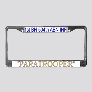 1st Bn 504th ABN Inf License Plate Frame