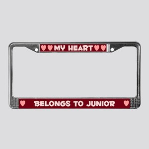 My Heart: Junior (#007) License Plate Frame