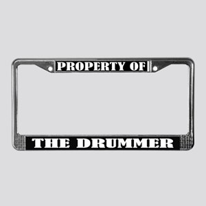 Property Of The Drummer License Frame
