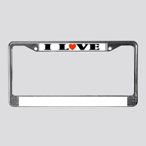 I Love The Tango License Plate Frame