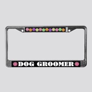 Dog Groomer License Plate Frame